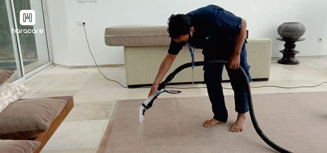 mencuci karpet